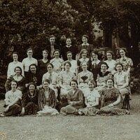 Women students at Beck Hall 1936-37